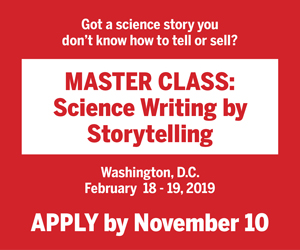 Master Class: Science Writing by Storytelling