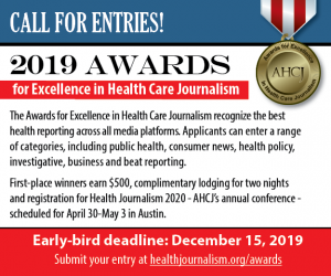 2019 Awards for Excellence in Health Care Journalism