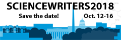 Save the date for ScienceWriters2018