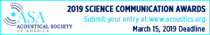 Acoustic Society of America 2019 science communication awards