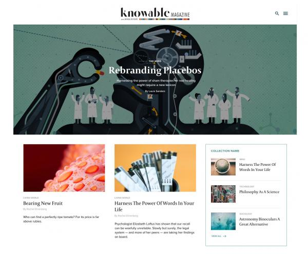From ScienceWriters: Knowable Magazine set to launch