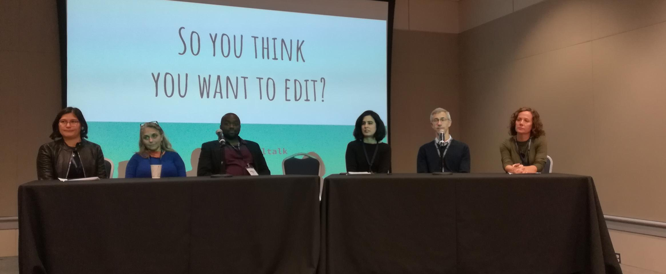 ScienceWriters 2018 panel: So you think you want to edit?