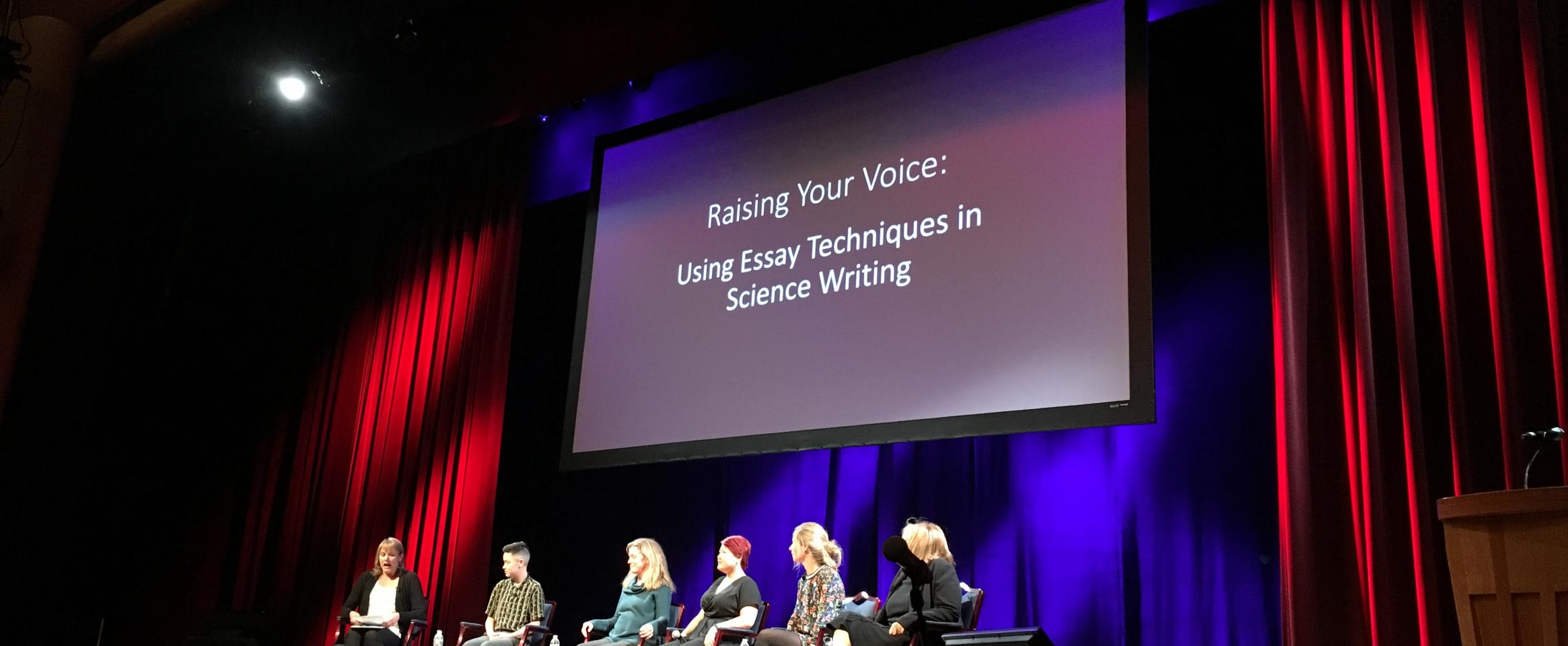 ScienceWriters 2018 panel: Raising your voice