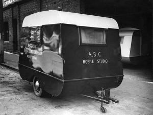ABC mobile studio caravan from the 1940s