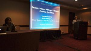 Sexism, science-writing and solutions session at ScienceWriters2015