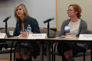 Linda Dahlstrom and Rachel Tompa discuss Running a Narrative Science/Tech Newsroom