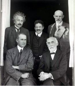 Photo of Einstein and colleagues