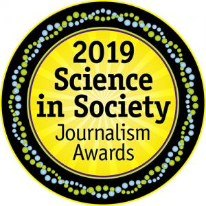 An image of the Science in Society award logo