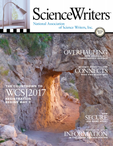 ScienceWriters Spring 2017 cover