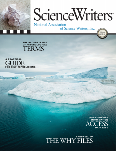 ScienceWriters cover winter 2015-16