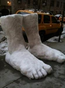 In Chicago, they had 2 feet.