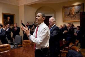 Obamacare passes the House. March 10, 2010