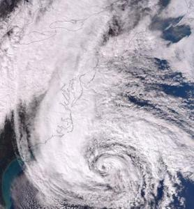 Sandy on October 28. Credit: NASA