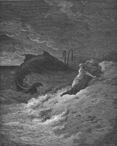 """Jonah Cast Forth By the Whale."" Gustave Doré."