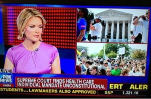 Fox News declares that Obamacare is unconstitutional.