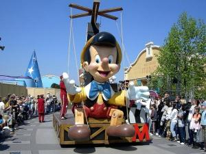 Pinocchio in a parade