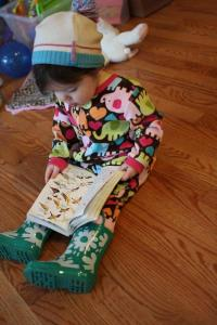 Photo of young girl reading