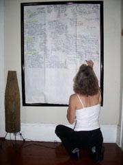 Margaret Knox, editing a story