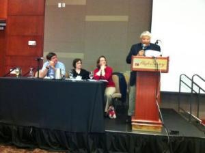 Left to right: Richard Harris, Joann Rodgers, Karen Infeld Blum, Warren Leary