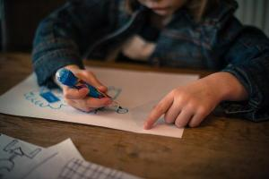 A kid drawing