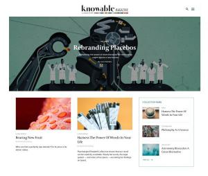 Knowable magazine home page