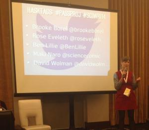"""Brooke Borel in the """"Making passion projects happen"""" session"""
