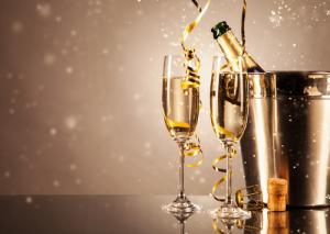 Champagne image via Shutterstock