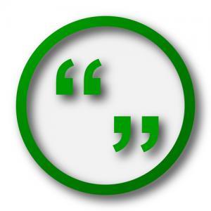 Quotation marks image via Shutterstock