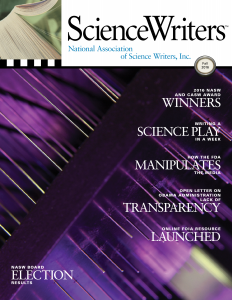 ScienceWriters Fall 2016 cover