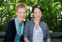 Robin Henig (left), and Samantha Henig, photo by JB Reed