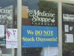 Oxycontin sign in drug store