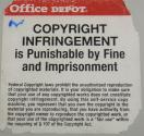 Copyright warning sticker