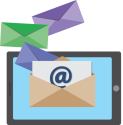 Email concept graphic