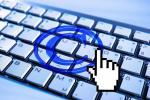 Copyright symbol over keyboard