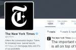 New York Times Twitter page