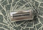 Panama Papers sign on cash stack