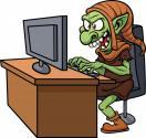 Internet troll image via Shutterstock