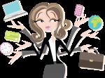 Juggling office worker image via Shutterstock