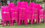 Pink chairs image via Shutterstock