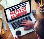 Breaking news headlines image via Shutterstock