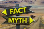 Fact/myth signposts image via Shutterstock